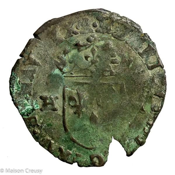 Henri IV le Grand (the Great) AR Douzain 5th type 1593 Barcelonnette