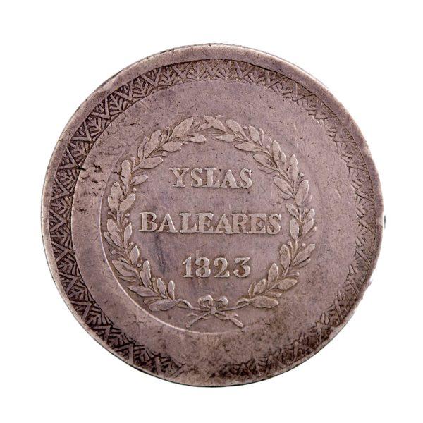Espagne Majorque 5 Pesetas 1823