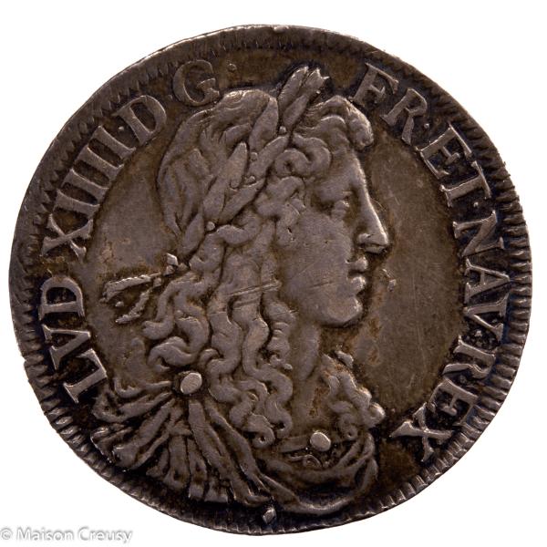 Louis XIV 1/2 écu juvénile 1er poinçon 1671 Aix