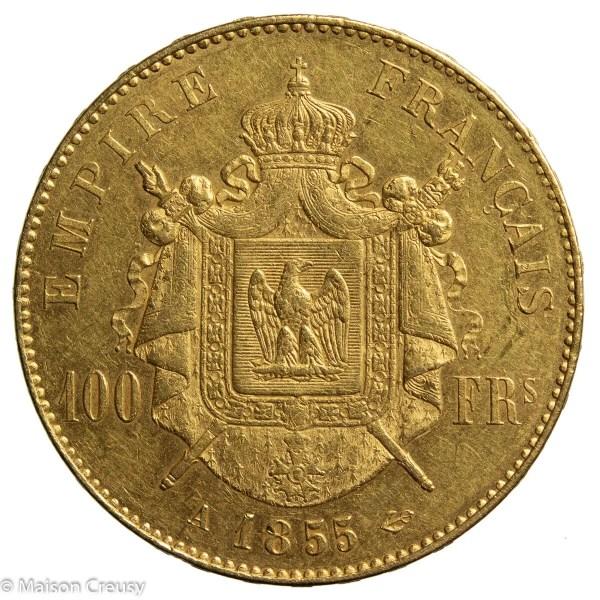 NapIII 100 francs 1855 Paris