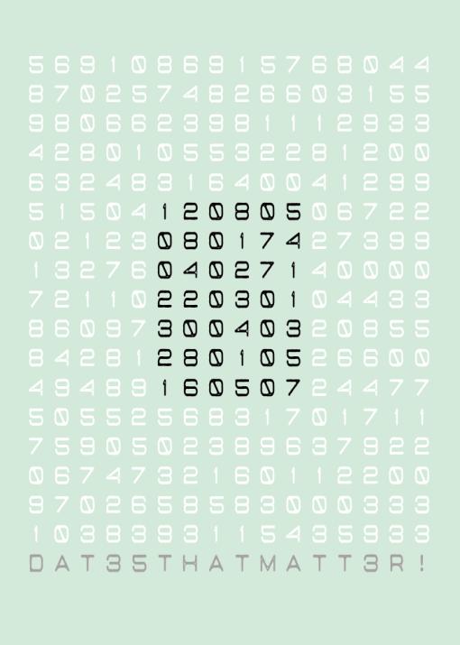 poster speciale datums groen blok