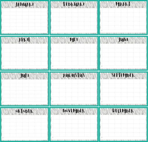 Kalender 2017 Zebra