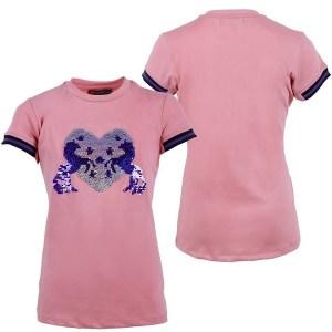 Lasten Esma t-paita, QHP Ihana t-paita lapsille. Muuta tämän paidan ulkonäkö pyyhkäisemällä edessä olevat paljetit ylöspäin.