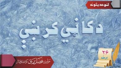Photo of د کاڼي کرښې (شپږ ویشتمه برخه)