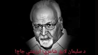 Photo of د سليمان لايق شاعري؛ ارزښتي جاج!