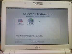 OS X select destination