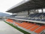 完成間近の南長野運動公園総合球技場…80億円