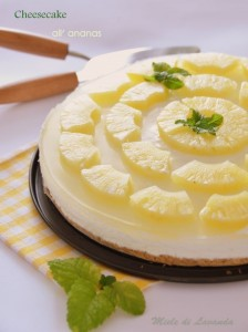 cheesecake all' ananas
