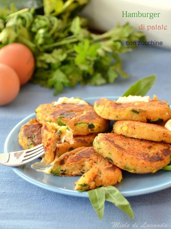 Hamburger di patate con zucchine