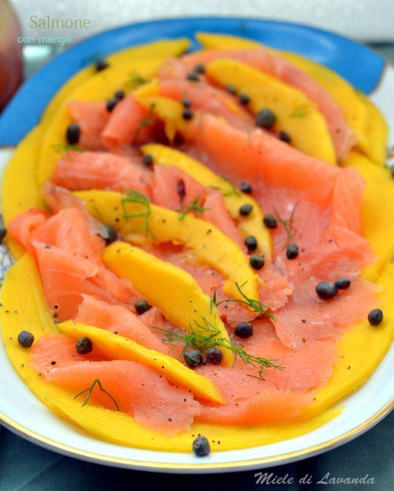 Salmone con mango