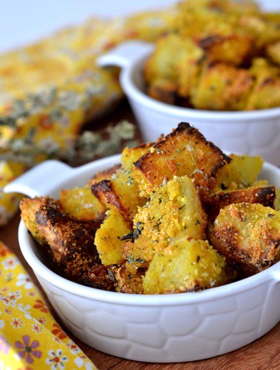 Patate sabbiose con pangrattato ed origano