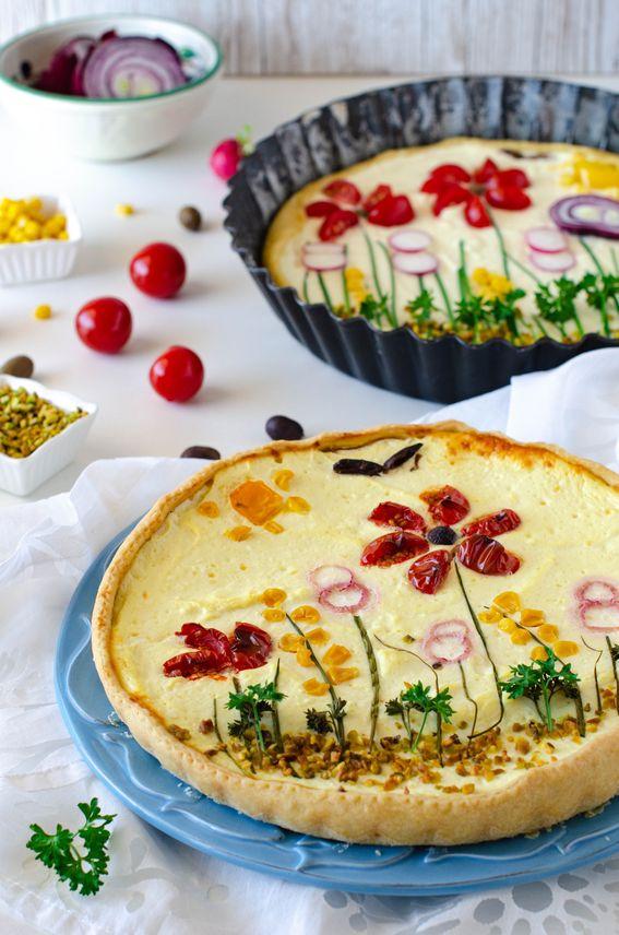 Quiche salata primavera con ricotta ed ortaggi di stagione