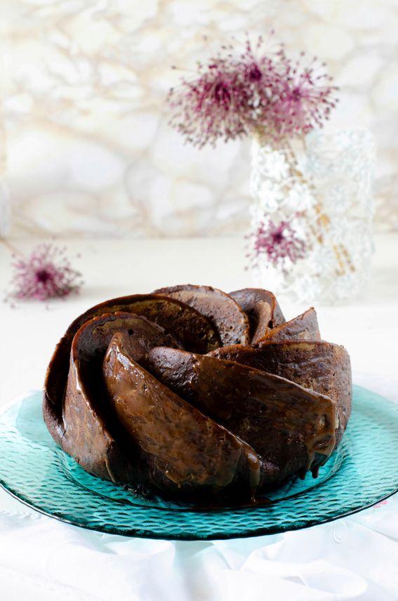 Ciambella soffice con ricotta cacao e cioccolato fondente