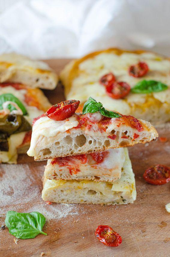Pizza in teglia con lievitino e maturazione in frigo di 24 ore