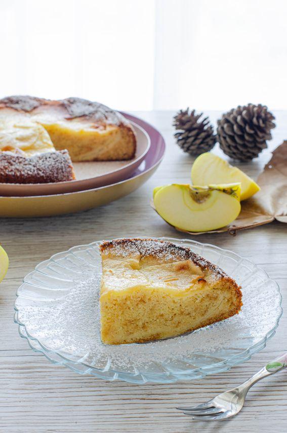 Torta di mele con purea soffice e senza burro