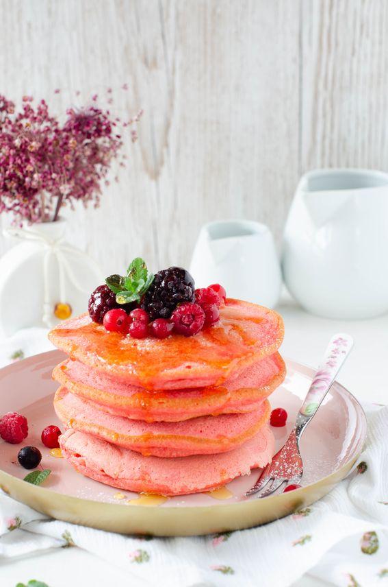 Pancake red velvet sofficissimi senza burro