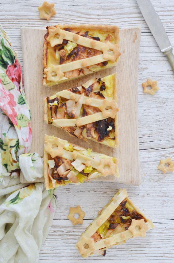 Quiche salata con patate porro e fesa di tacchino SENZA burro