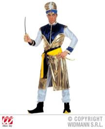 Maharaja - casacca lunga, pantaloni, cintura, copriscarpe, turbante - cod. 3758