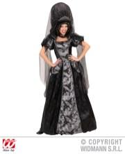 Dark queen - vestito con cerchio, copricapo con velo - cod. 7289