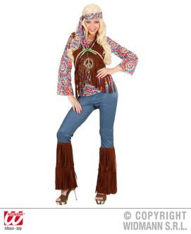 Hippie psichedelico - camicia con gilet, pantaloni, fascia - cod. 7542