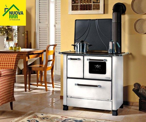 Cucina a legna Romantica 3,5 Bianca