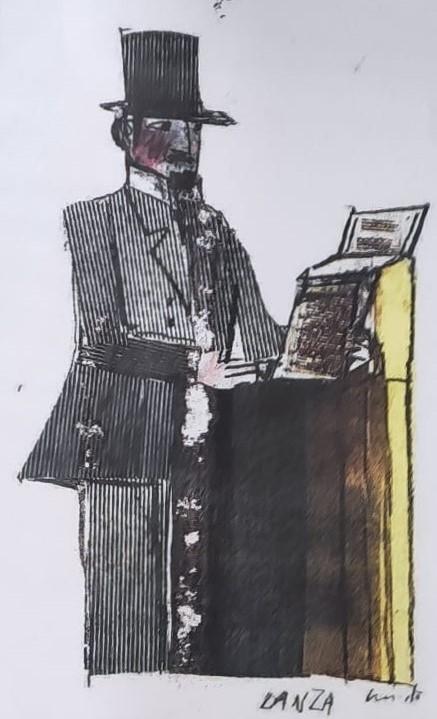 Illustrazione di Lanza di Emanuele Luzzati