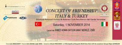 concerto amicizia Italia Turchia