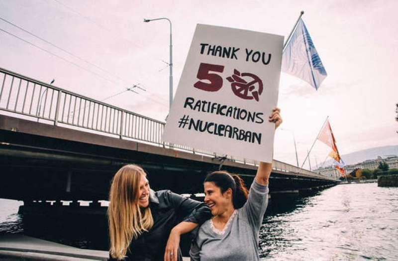 attivisti, proibizione delle armi nucleari