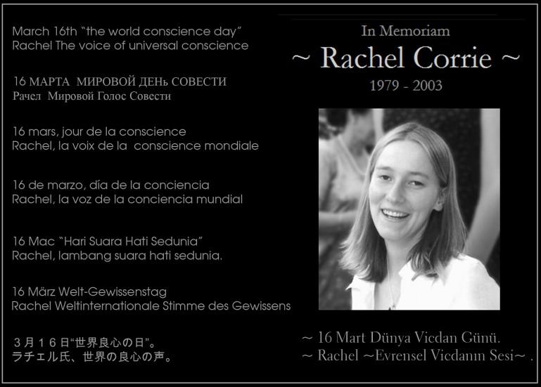Rachel Corrie adında bir kız geçti dünyadan