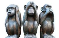 3 Wise Monkeys - Don't Hear, See, talk Evil