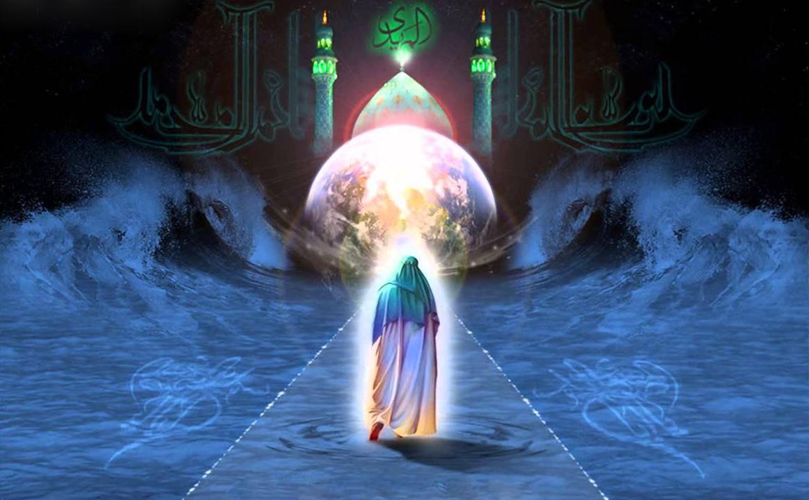 Imam Mahdi (as) walking oceans earth mosque