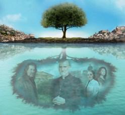 Layering Example Photoshop Mountain Tree Stream People