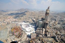 Mecca - Giant Tower & Construction site, Makkah