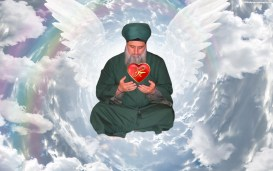 Shaykh Nurjan Mirahmadi-with angel wings, heavens, heart of Muhammad