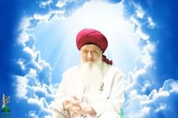 Sheikh Nurjan Mirahmadi- sitting in clouds-heaven-logo