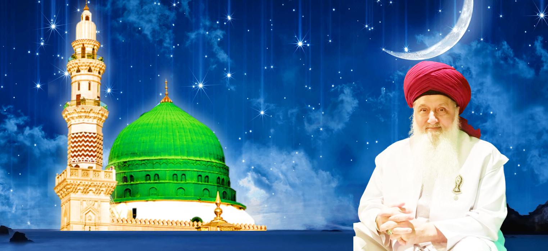 Shaykh Nurjan Mirahmadi-medina dome and stars falling,