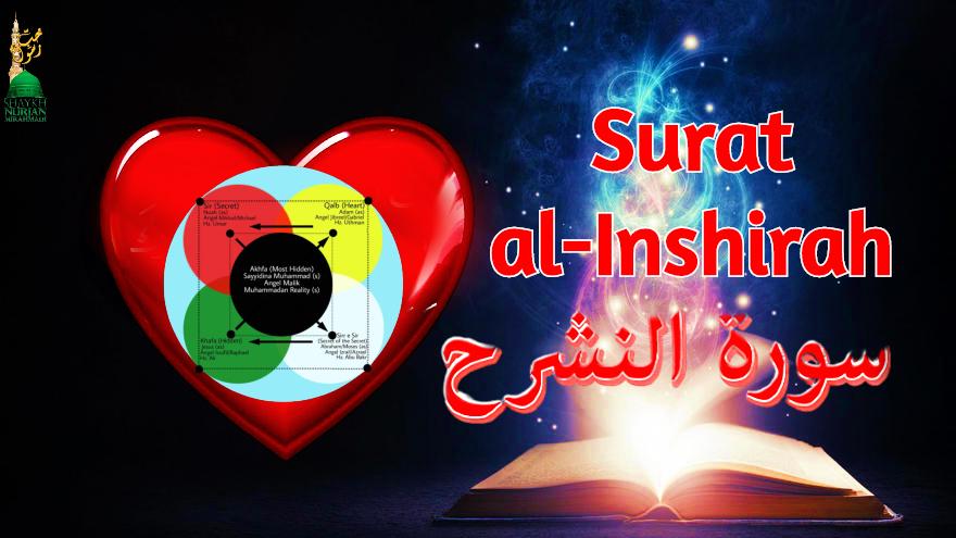 Surat al-inshirah dressing lataif qalb,quran,logo