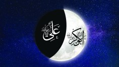 Two faces of the moon_Abu Bakr_Imam Ali