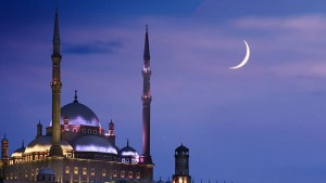 mosque-crescent-moon-night-sky