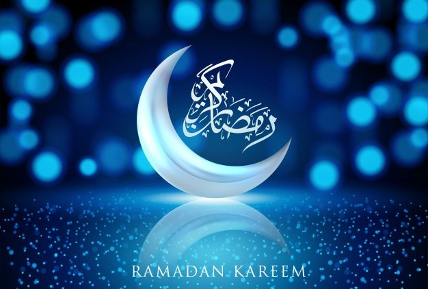 ramadan-kareem- Crescent, moonlight, blue