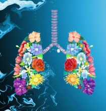 the breath and lungs ,flowers