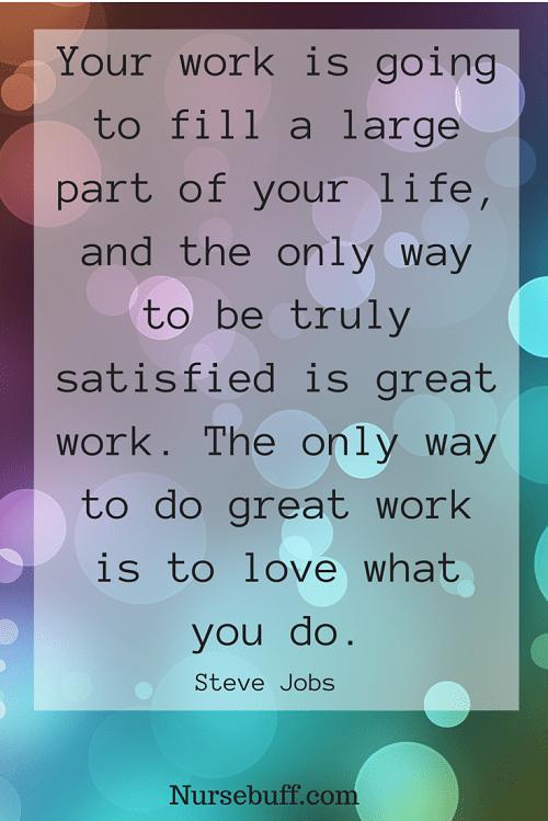 jobs inspirational nursing quotes