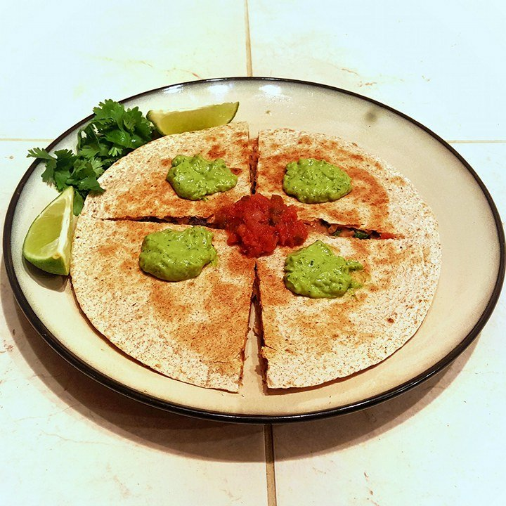 Sweet Potato and Black Bean Vegan Quesadilla
