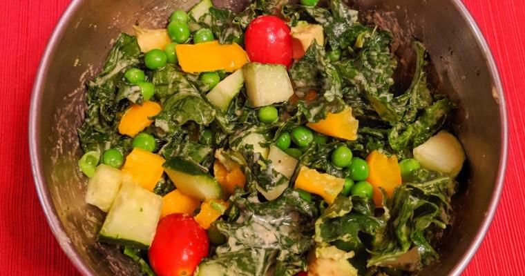 The Best Vegan Caesar Kale Salad Recipe