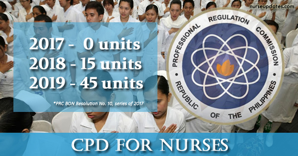 PRC-BON sets CPD requirement for Nurses starting 2018