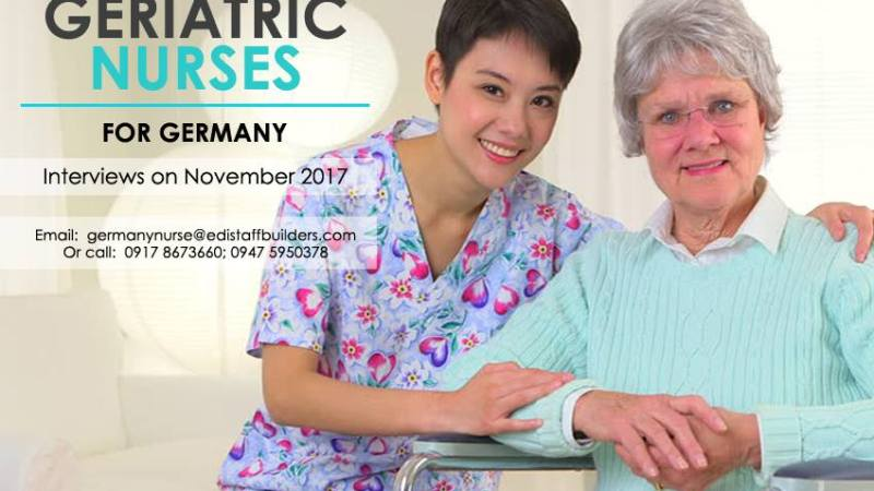 Germany hiring elderly care nurses, up to P1.5 million annual salary