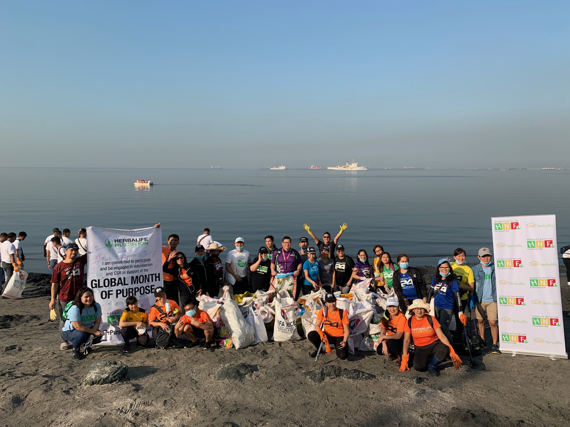 Purpose in Action: Herbalife Nutrition Joins  Manila Bay Clean Up