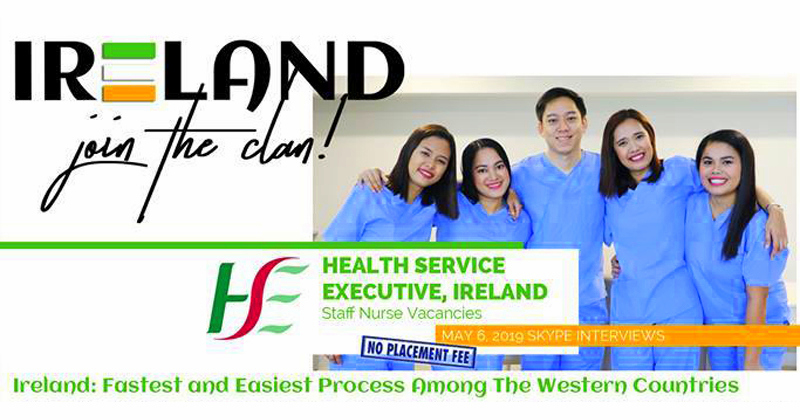 Gov't Hospitals in Ireland need staff nurses, monthly salary at Php 215,000