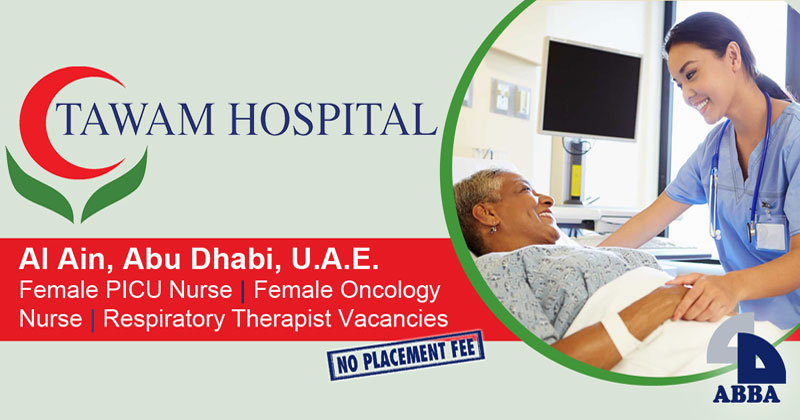 Tawam Hospital in UAE hiring nurses, respiratory therapists