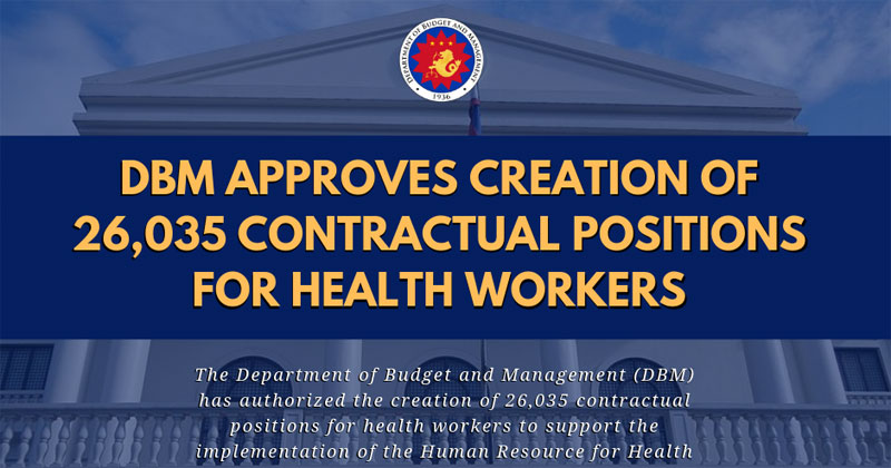 DBM opens contractual positions for 26,035 health workers, with benefits and bonuses